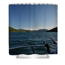Fishing Off Hisnit Inlet Shower Curtain