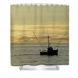 Fishing Off Santa Cruz Shower Curtain
