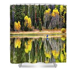 Fishing On Dream Lake Colorado Shower Curtain
