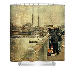 Fishing On The Bosphorus Shower Curtain