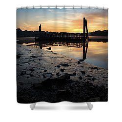 Fishing Pier At Dawn Shower Curtain