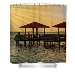 Fishing Pier Shower Curtain