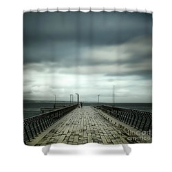 Shower Curtain featuring the photograph Fishing Pier by Perry Webster