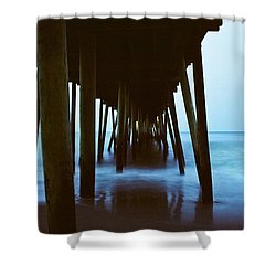 Fishing Pier Shower Curtain by Scott Meyer