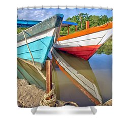 Fishing Pirogues  Shower Curtain