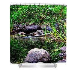 Fishing Pond Shower Curtain