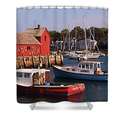 Fishing Shack Shower Curtain by John Scates
