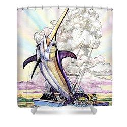 Fishing Swordfish Shower Curtain