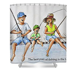 Fishing Tale Shower Curtain