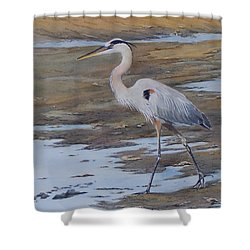 Fishing The Mud Flats...sold  Shower Curtain