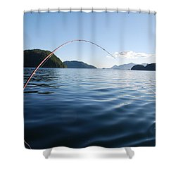 Fishing Tlupana Inlet Shower Curtain