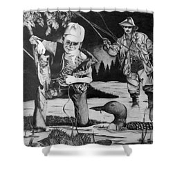 Fishing Vacation Shower Curtain
