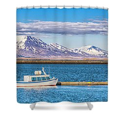 Fishing Shower Curtain by Wade Courtney