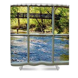 Fishing Window Shower Curtain