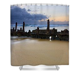 Fishing With History Shower Curtain by Mike  Dawson