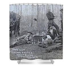 Fishing With The Boys Shower Curtain