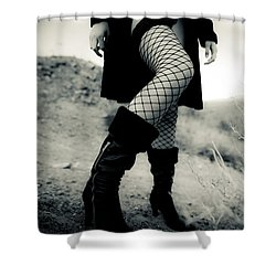 Fishnet Leg Shower Curtain by Scott Sawyer