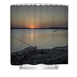 Fishing Poles Shower Curtain