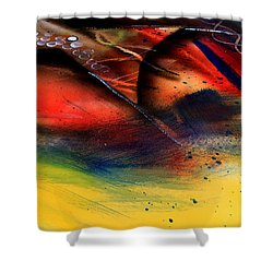 Fishtail Abstract Shower Curtain
