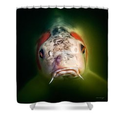 Here's Looking At You Shower Curtain by Denis Lemay
