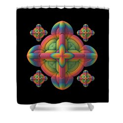 Shower Curtain featuring the digital art Fit To A Tee by Lyle Hatch