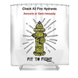 Fit To Fight Shower Curtain