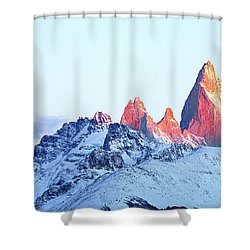 Fitz Roy Peak Shower Curtain