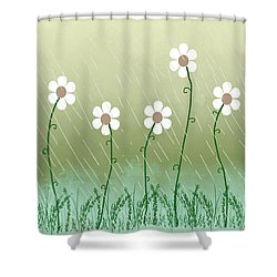 Five Days Of Daisies Shower Curtain