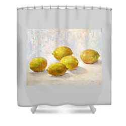 Five Lemons Shower Curtain