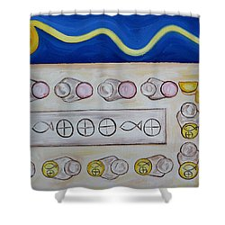 Five Loaves And Two Fish Shower Curtain by Patrick J Murphy