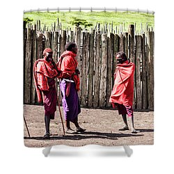 Five Maasai Warriors Shower Curtain