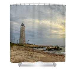 Five Mile Point Shower Curtain