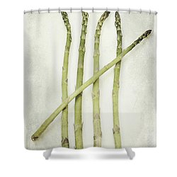 Five Shower Curtain by Priska Wettstein