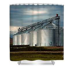 Five Silos On The Plains Of The Texas Panhandle Shower Curtain