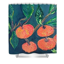 Five Tangerines Shower Curtain