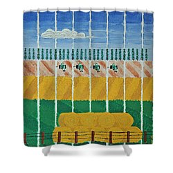 Five Tractors Shower Curtain