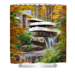 Fixer Upper - Frank Lloyd Wright's Fallingwater Shower Curtain