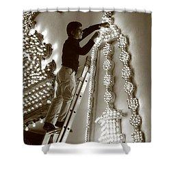 Fixing A Glitch Shower Curtain by Gaspar Avila