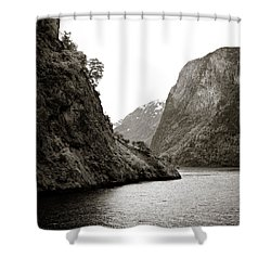 Fjord Beauty Shower Curtain by Dave Bowman