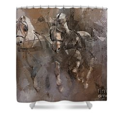 Fjords On The Run Shower Curtain by Kathy Russell