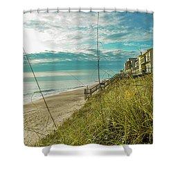 St Aug Beach Shower Curtain
