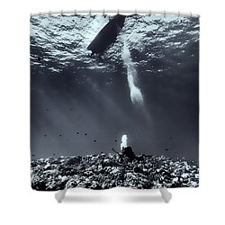 Fla-151028-nd800e-107-bw-selenium Shower Curtain