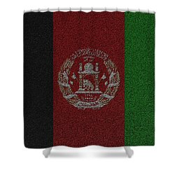Shower Curtain featuring the digital art Flag Of Afghanistan by Jeff Iverson
