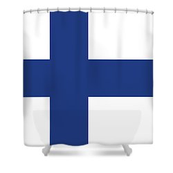 Shower Curtain featuring the digital art Flag Of Finland by Bruce Stanfield