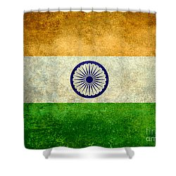 Flag Of India Vintage 18x24 Crop Version Shower Curtain