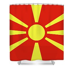 Shower Curtain featuring the digital art Flag Of Macedonia by Bruce Stanfield