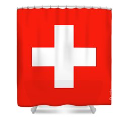 Shower Curtain featuring the digital art Flag Of Switzerland by Bruce Stanfield