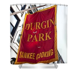 Flag Of The Historic Durgin Park Restaurant Shower Curtain