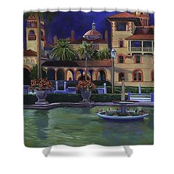 Flagler College II Shower Curtain by Christine Cousart