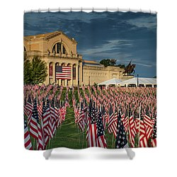 Flags Of Valor On Art Hill Shower Curtain